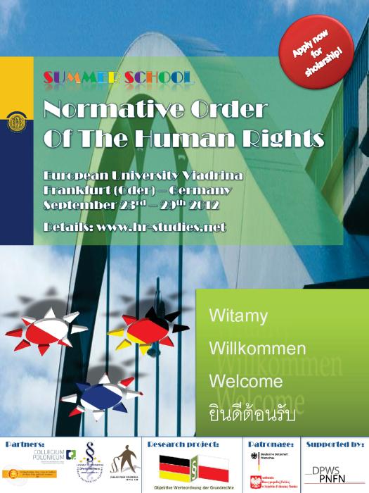 Poster Summer School 2012